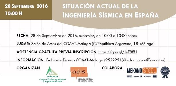 Jornada gratuita «Situación actual de la Ingeniería Sísmica en España»