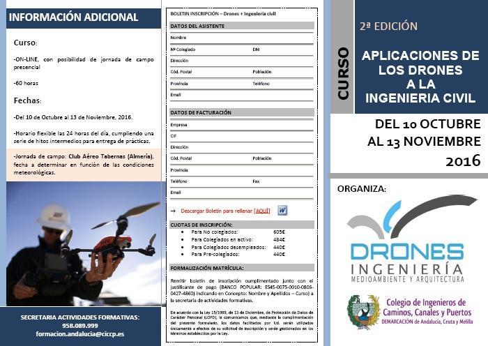 II Edición · Curso «Aplicaciones de los Drones a la Ingeniería Civil»