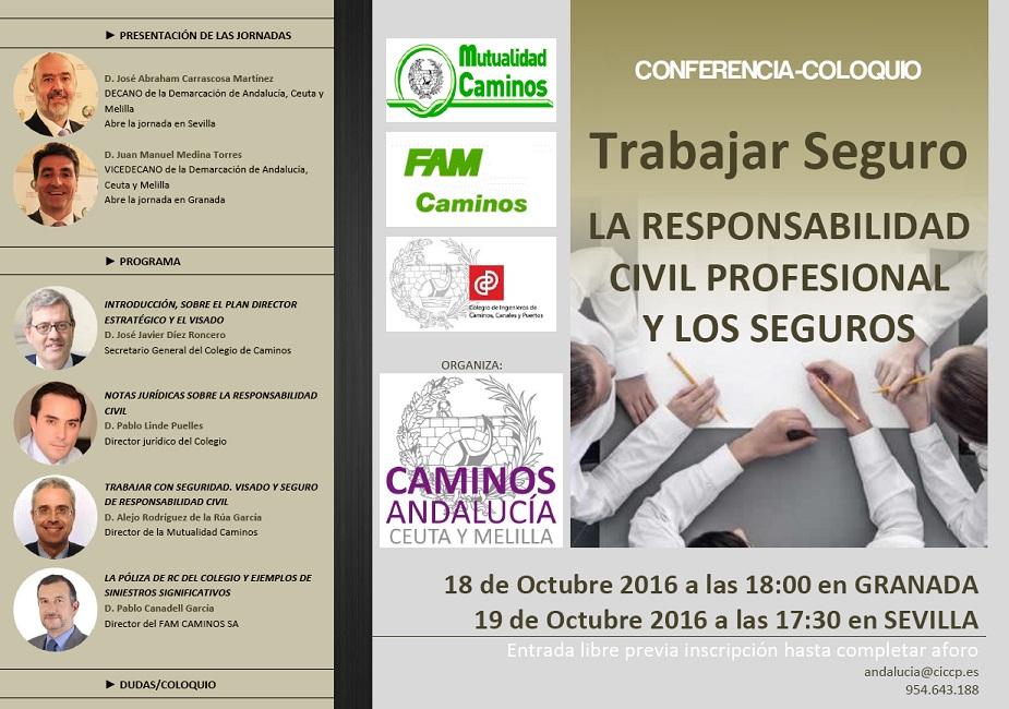 """Conferencia """"Trabajar Seguro. LA RESPONSABILIDAD CIVIL PROFESIONAL Y LOS SEGUROS"""""""