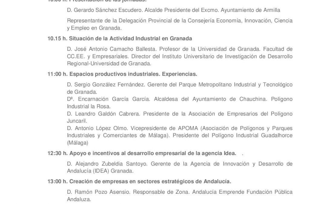 """Jornada Técnica """"Actividad Industrial en Granada"""""""