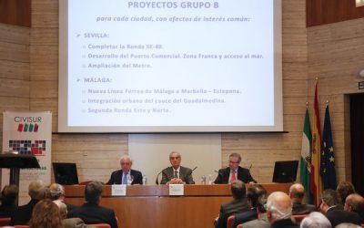Civisur da a conocer ideas y soluciones sobre infraestructuras para mejoras en Sevilla y Málaga