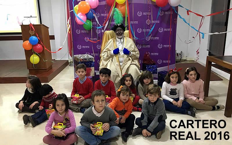 El Cartero Real recoge las cartas y deseos de los niños de nuestros Colegiados