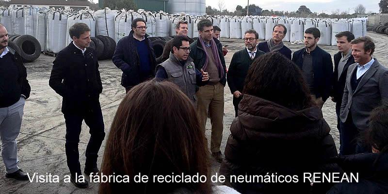 Visita a la fábrica de reciclado de neumáticos RENEAN