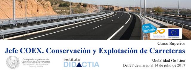 """IDidactia. Curso Superior """"Jefe de Conservación y Explotación de Carreteras"""" · Marzo 2017"""