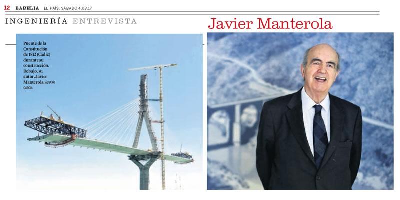 Entrevista a Javier Manterola en el diario EL PAÍS
