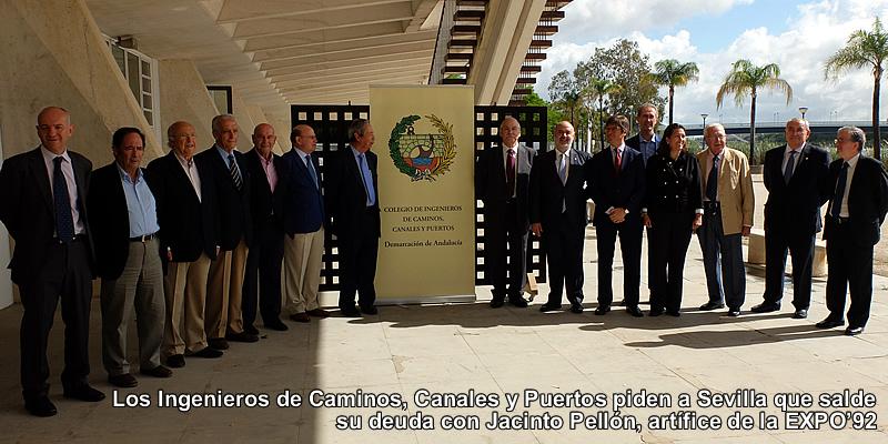 Los Ingenieros de Caminos, Canales y Puertos piden a Sevilla que salde su deuda con Jacinto Pellón, artífice de la EXPO'92