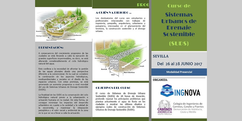 """Sevilla. Curso de """"Sistemas Urbanos de Drenaje Sostenible"""" (SUDS)"""