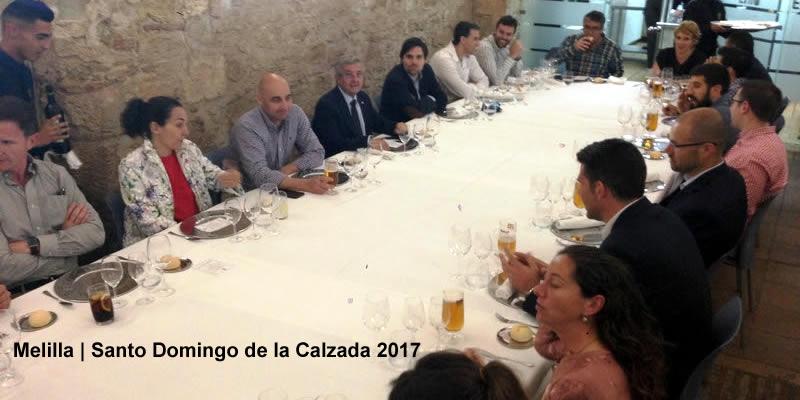 Concurrida comida de Santo Domingo en Melilla