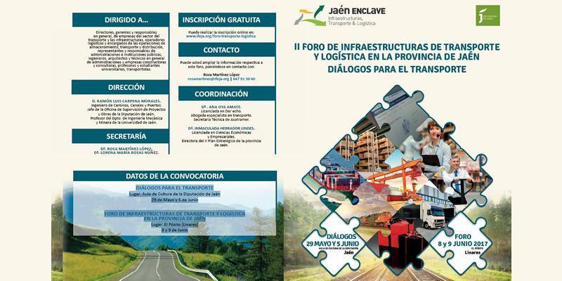 Jaén. II Foro de Infraestructuras de Transporte y Logística en la provincia