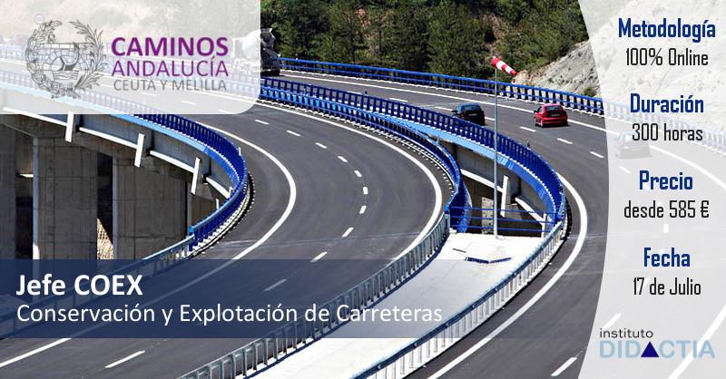 IDidactia . Curso Superior Jefe COEX Conservación y Explotación de Carreteras