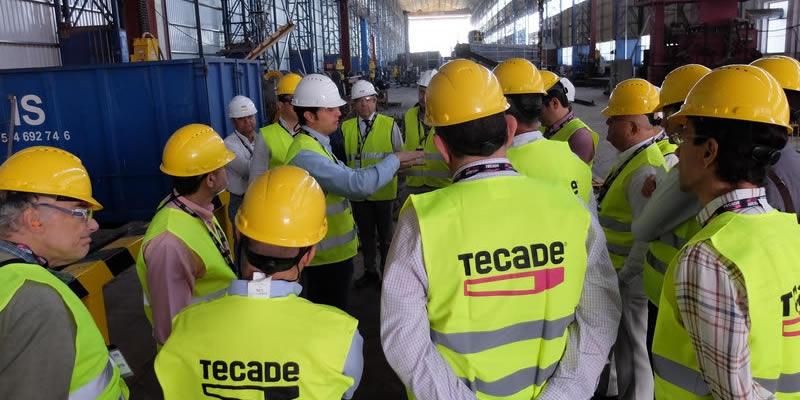 TECADE explica a una veintena de colegiados cómo fabrican las estructuras del nuevo puente Champlain de Montreal (Canadá)