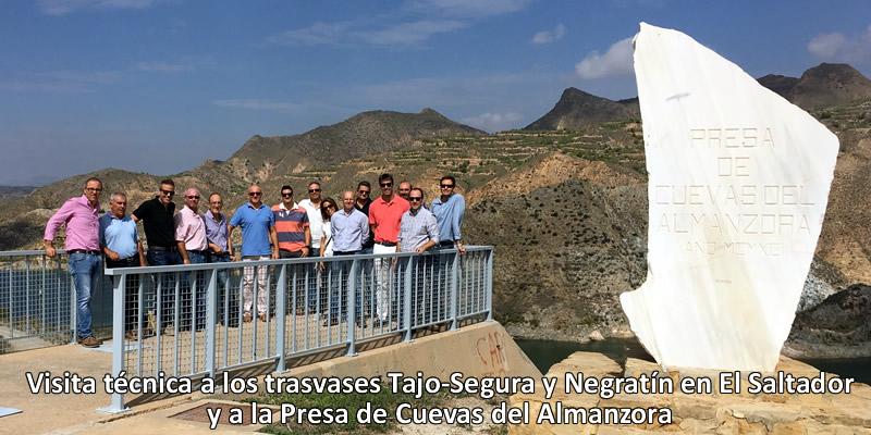 Interesante visita técnica a la conexión Negratín-Almanzora
