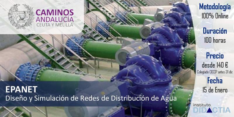 """IDidactia. Curso de """"Diseño y Simulación de Redes de Distribución de Agua con EPANET"""" · Enero 2018"""