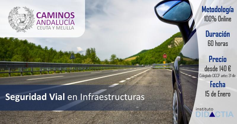 """IDidactia. Curso de """"Seguridad Vial en Infraestructuras"""" · Enero 2018"""