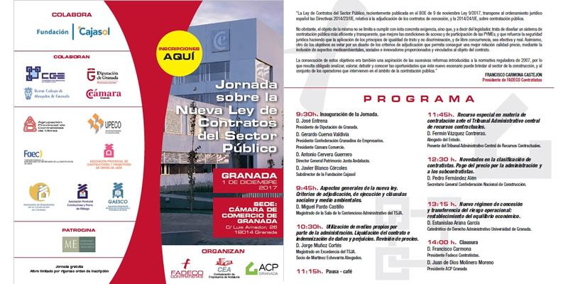 Granada. Jornada sobre la Nueva Ley de Contratos del Sector Público