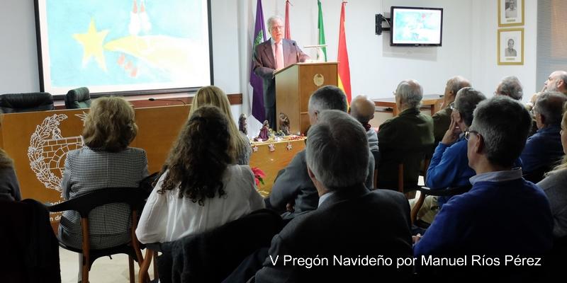 Manuel Ríos Pérez dio la bienvenida a las Fiestas Navideñas pronunciando el tradicional Pregón Navideño