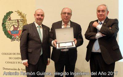 El presidente de la CHG, Antonio Ramón Guinea, elegido Ingeniero del Año 2017