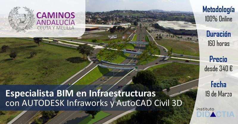 IDidactia. Especialista BIM en Infraestructuras con Autodesk Infraworks y Autocad Civil 3D