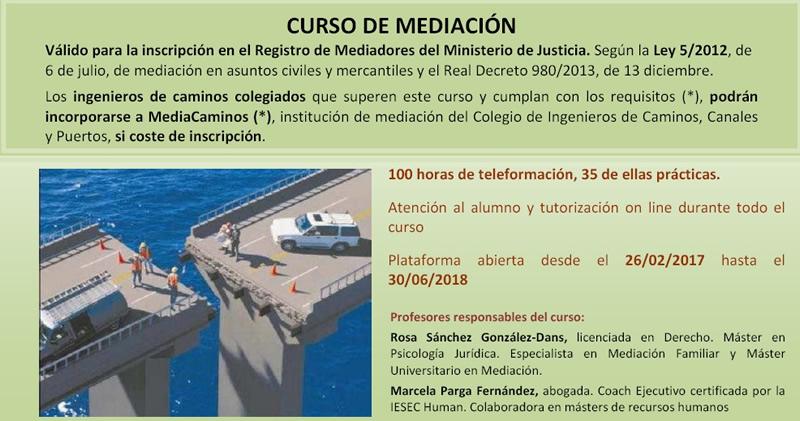 Curso de Mediación (on line). CICCP Galicia