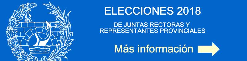 ELECCIONES 2018. JUNTAS RECTORAS Y REPRESENTANTES PROVINCIALES