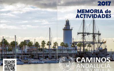 Disponible la Memoria de Actividades 2017 de Caminos Andalucía