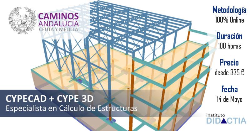"""IDidactia. Curso de """"Especialista en Cálculo de Estructuras con CYPE (CYPECAD + CYPE 3D)"""" · 14 Mayo 2018"""