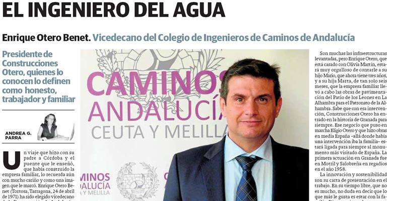 EL INGENIERO DEL AGUA. Artículo en el periódico IDEAL de Granada