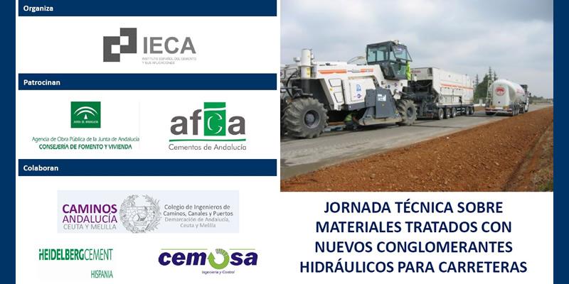 """Jornada técnica sobre """"Materiales tratados con nuevos conglomerantes hidráulicos para carreteras"""""""