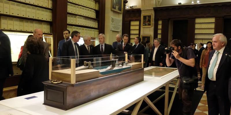 Amplia representación colegial en la inauguración en Sevilla de la exposición  'Cuatro siglos de Ingeniería española en Ultramar: siglos XVI-XIX'