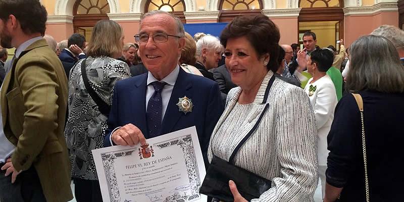 Juan Saura Martínez recibe la Encomienda de Número de la Orden Civil del Mérito Medio Ambiental