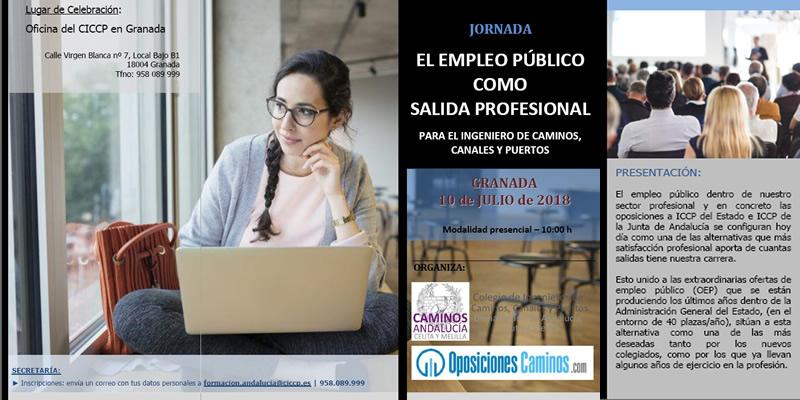 """Granada. Jornada """"EL EMPLEO PÚBLICO COMO SALIDA PROFESIONAL"""""""