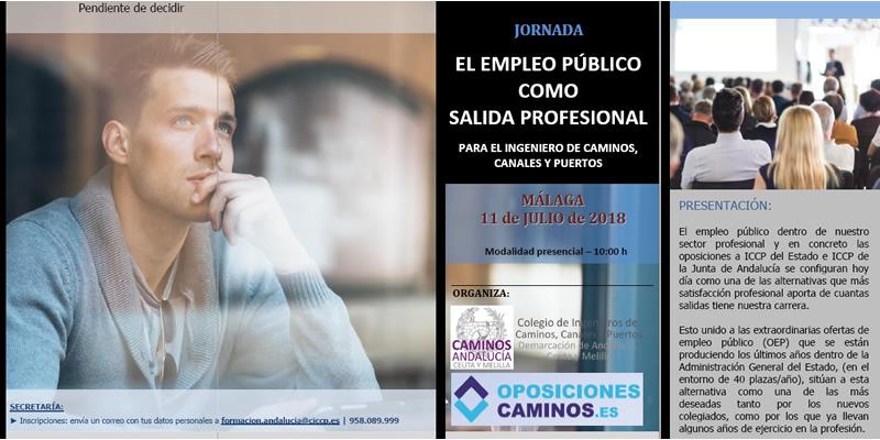"""Málaga. Jornada """"EL EMPLEO PÚBLICO COMO SALIDA PROFESIONAL"""""""