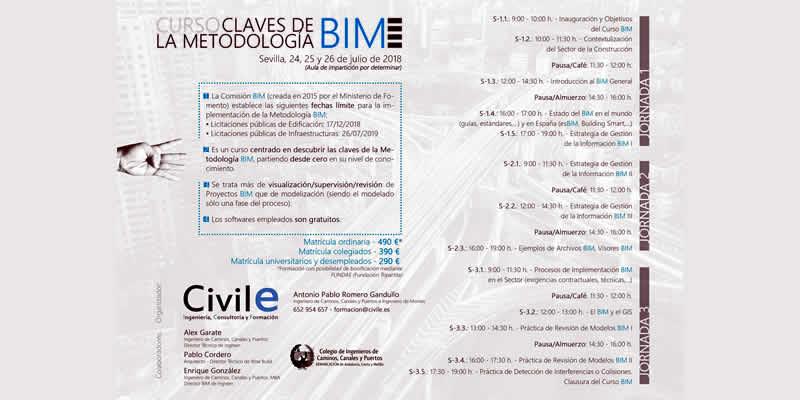 Sevilla. Curso «Claves de la Metodología BIM» por CIVILE