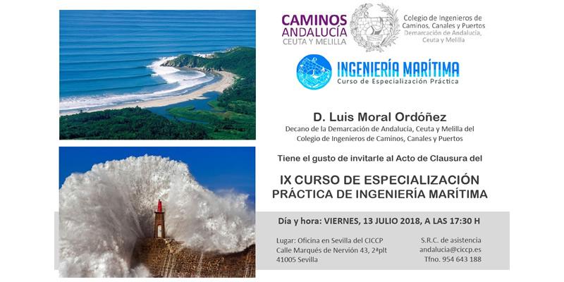 Sevilla. Acto de Clausura del IX Curso de Especialización Práctica de Ingeniería Marítima