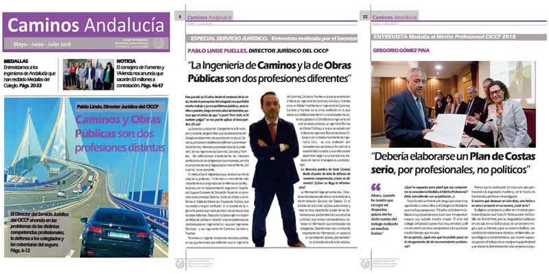Disponible la revista de Caminos Andalucía MAY JUN JUL 2018