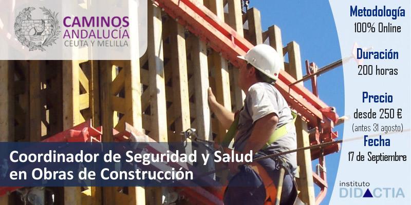 """IDidactia. Curso de """"Coordinador de Seguridad y Salud en Obras de Construcción"""" · 17 SEPT 2018"""