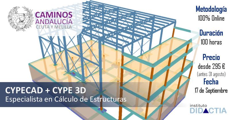 """IDidactia. Curso de """"Especialista en Cálculo de Estructuras con CYPE (CYPECAD + CYPE 3D)"""" · 17 SEPT 2018"""