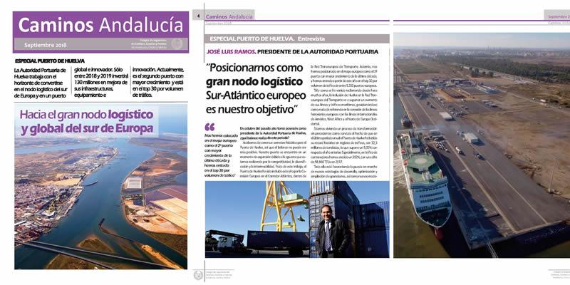 Disponible la revista de Caminos Andalucía SEPT 2018