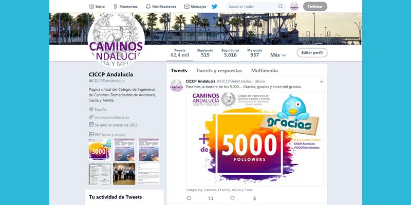 Sobrepasamos la barrera de los 5.000 seguidores en Twitter