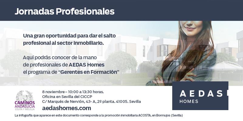 """Sevilla. Jornadas profesionales """"Oportunidades laborales en el sector inmobiliario"""" – CANCELADA"""