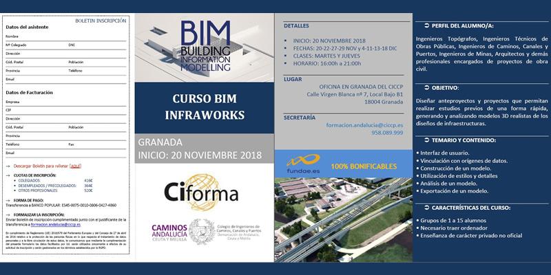 Granada. CURSO BIM INFRAWORKS