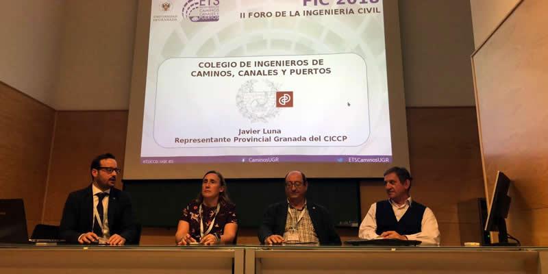 El Representante de Granada presenta los servicios de Empleo y Formación de la Demarcación a los futuros ingenieros de la ETSICCP de la UGR