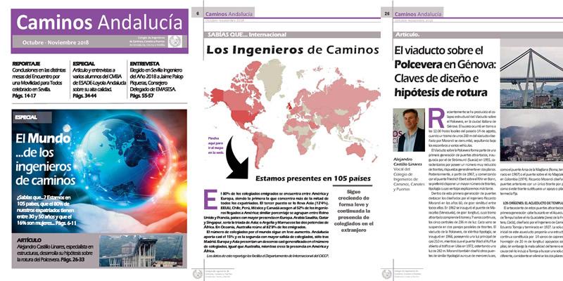 Disponible la revista de Caminos Andalucía OCT NOV 2018