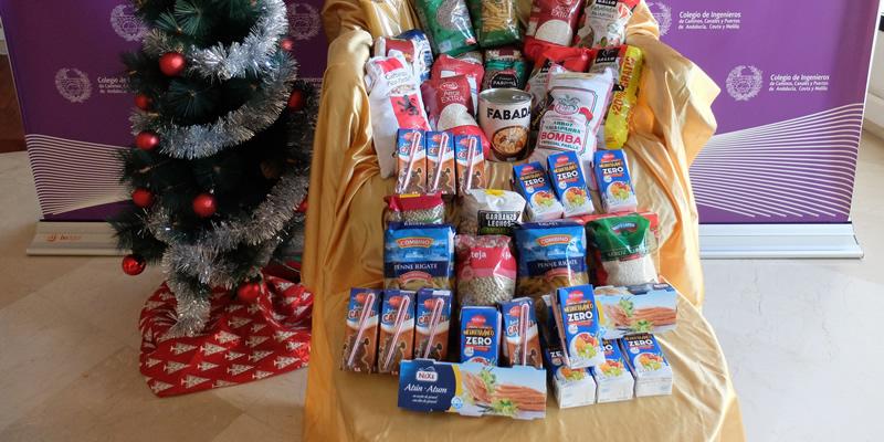 La Demarcación dona 40 kg al Banco de Alimentos de Sevilla por las aportaciones de los familiares que acudieron al Cartero Real
