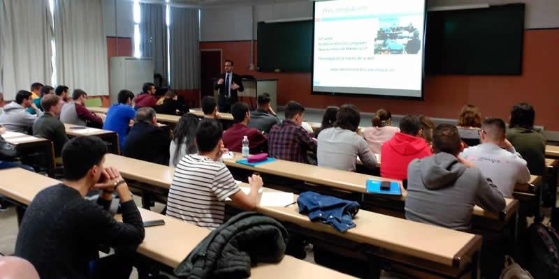 Presentación del CICCP a los alumnos del Máster de ICCP de la ETSICCP UGR