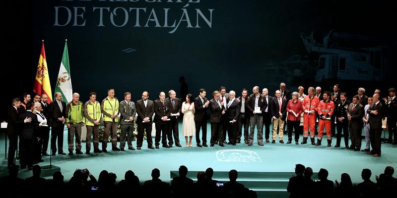 Distinción Honorífica en las Medallas de Andalucía 2019 por la participación en el equipo de rescate de Julen en Totalán