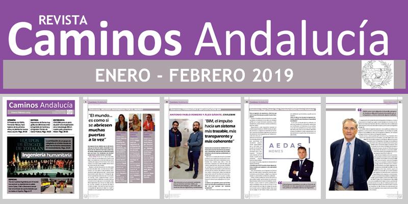 Disponible la revista de Caminos Andalucía ENE FEB 2019