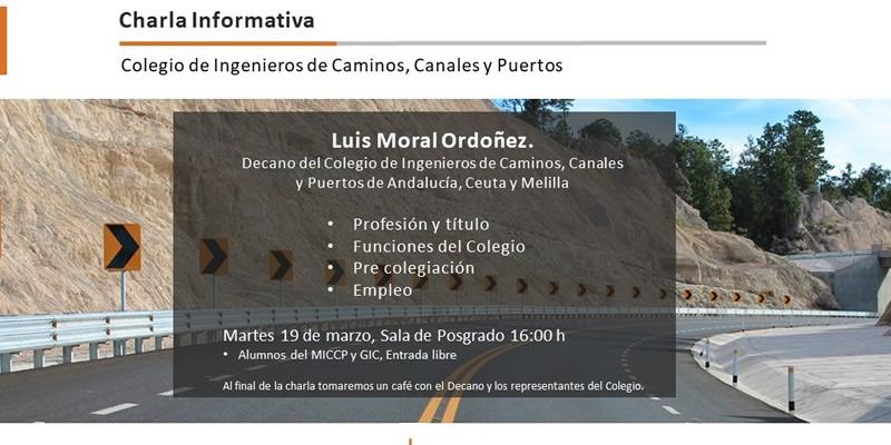 Algeciras | Charla Informativa sobre el Colegio de Ingenieros de Caminos, Canales y Puertos