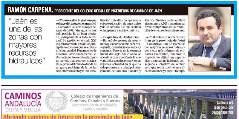 Ramón Carpena: «Jaén es una de las zonas con mayores recursos hidráulicos»