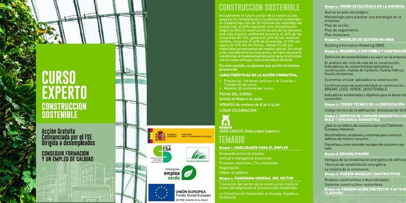 Curso Experto en Construcción Sostenible (Granada, Málaga, Sevilla)
